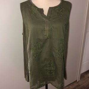 NWT! Style & Co. Olive Sprig tank Size 1X